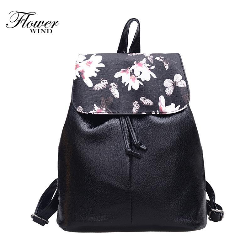 5d648746808f6 Satın Al 2019 Moda Yeni Kadın Çanta Kaliteli Pu Deri Kadın Çantası Sırt  Çantaları Çiçek Desen Okul Bebek Mini Sırt Çantası Tüm Maç Tarzı, $39.62 |  DHgate.