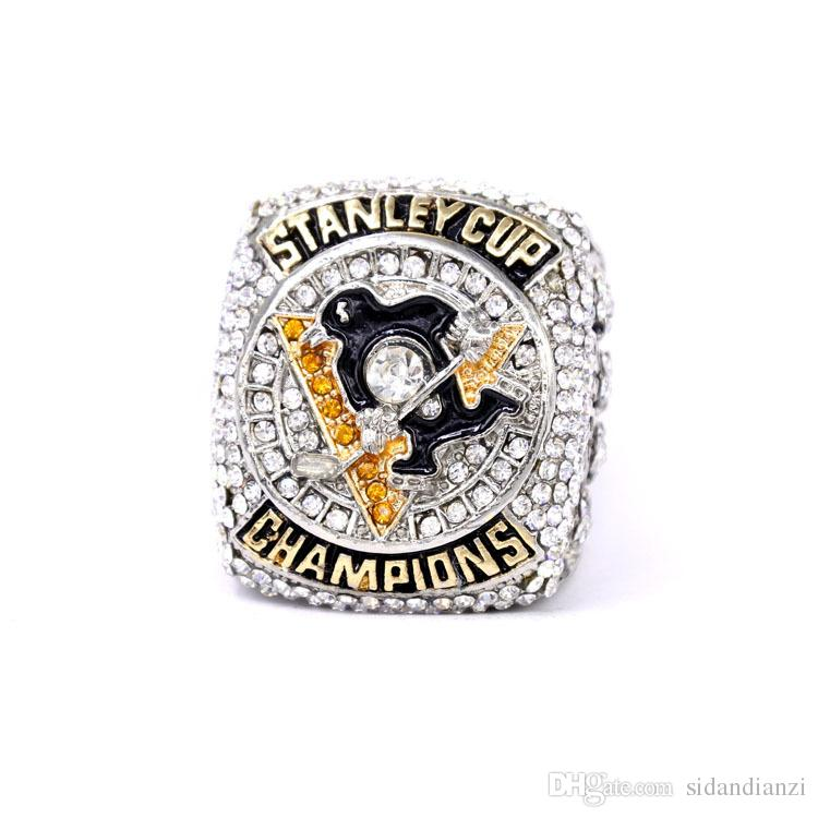 New Fashion Men's Ring Golden 2016 Pittsburgh Penguin Champion Alloy Ring