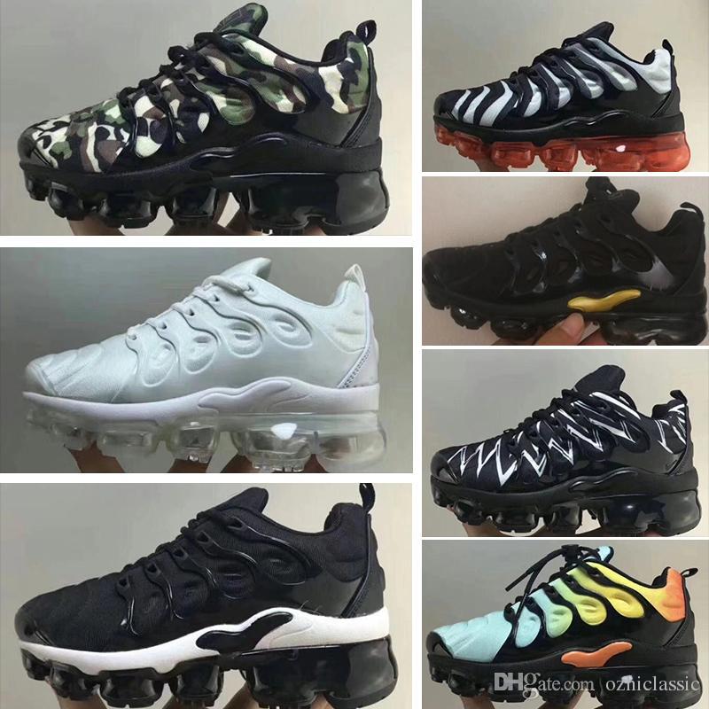 best cheap c6bcf 2b252 Acheter Nike Air Max Tn Plus 2018 Nouveau TN Chaussures De Course Pour  Homme Femmes Enfants Noir Rouge Blanc TN Ultra KPU Cushion Surface Baskets  Trainer ...