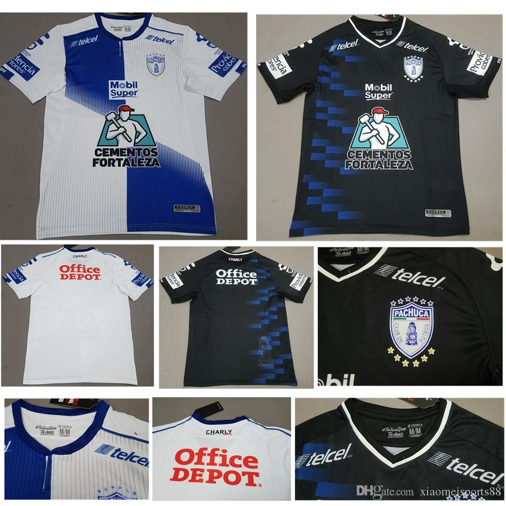287596671 2019 2019 New Pachuca Soccer Jerseys 18 19 Mexico City Home Blue White  Football Shirt 2018 Pachuca FC Away Black Soccer Shirts On Sales From  Xiaomeisports88 ...