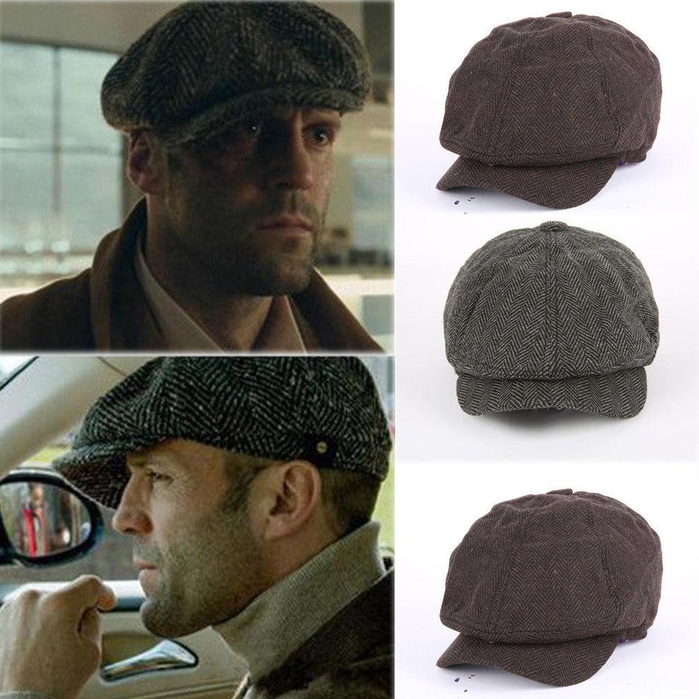 Winter Men S Vintage Newsboy Designer Ivy Cap Wool Beret Golf Cabbie Gatsby  Hat Gatsby Peaky Blinder Berets UK 2019 From Melontwo 212dd2b37ef