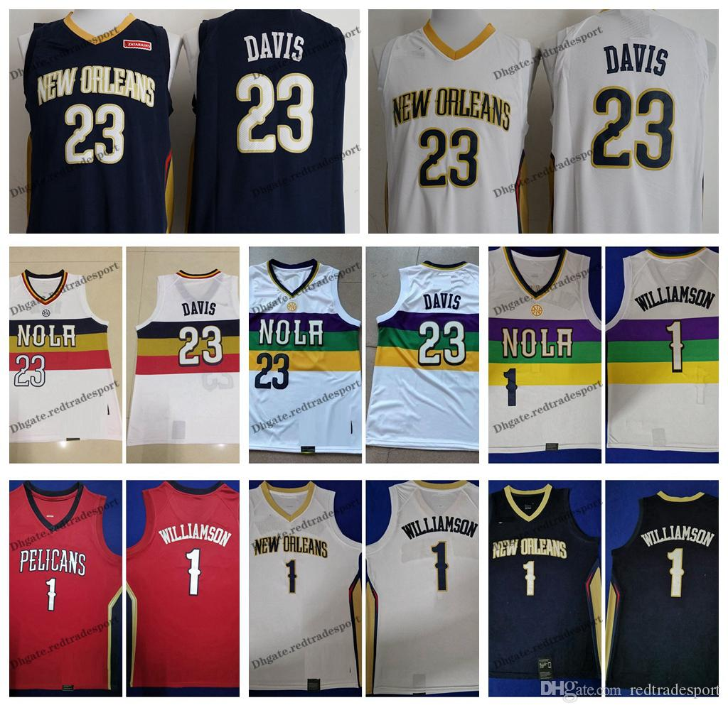 finest selection b9979 5086b 2019 Earned #23 New Orleans Anthony Davis Pelicans Zion Williamson #1  Basketball Jerseys Cheap City Anthony Davis Stitched Shirts S-XXL