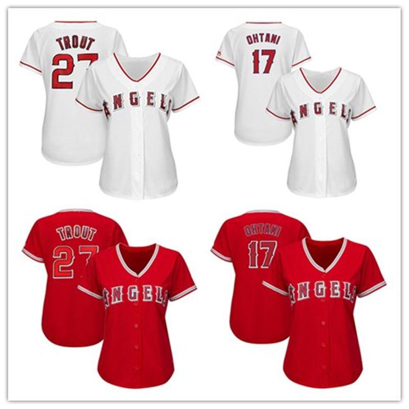 the latest cbbda 7bb75 Womens Mike Trout Shohei Ohtani Custom La Angels Jersey Albert Pujols Jose  Fernandez Alex Meye Ladies Los Angeles Baseball Player Jerseys