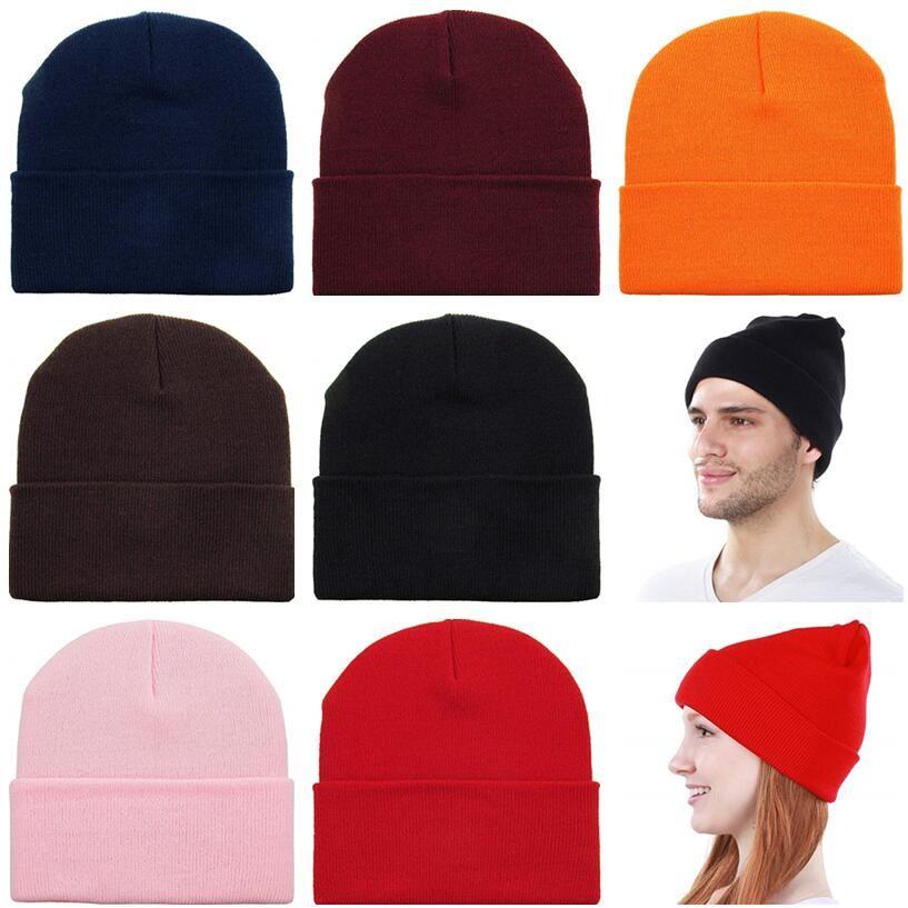Fashion Beanie Hat Knitted Skull Cuffed Beanie Unisex Warm Winter Hat  Elastic Hip Hop Ski Sport Hats Girls Boys Solid Cap Cap Hat Cute Beanies  From ... db442e44f7e0