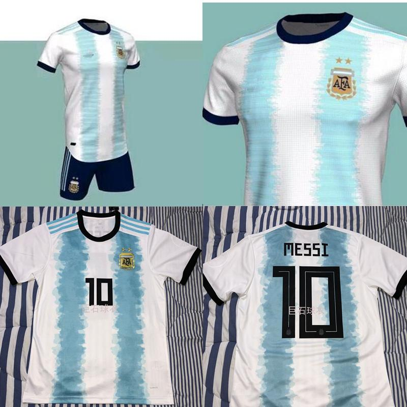 b117d90080a S - XXL Top Quality Argentina 2019 2020 Copa America Home Soccer ...