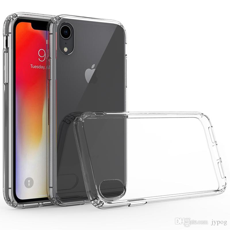 online store 3ee84 4fb0d For iPhone Xs Case Crystal Clear Hybrid Soft TPU Hard PC Rugged  Anti-Scratch Phone case for iPhone Xr Xs Max luxury brand case