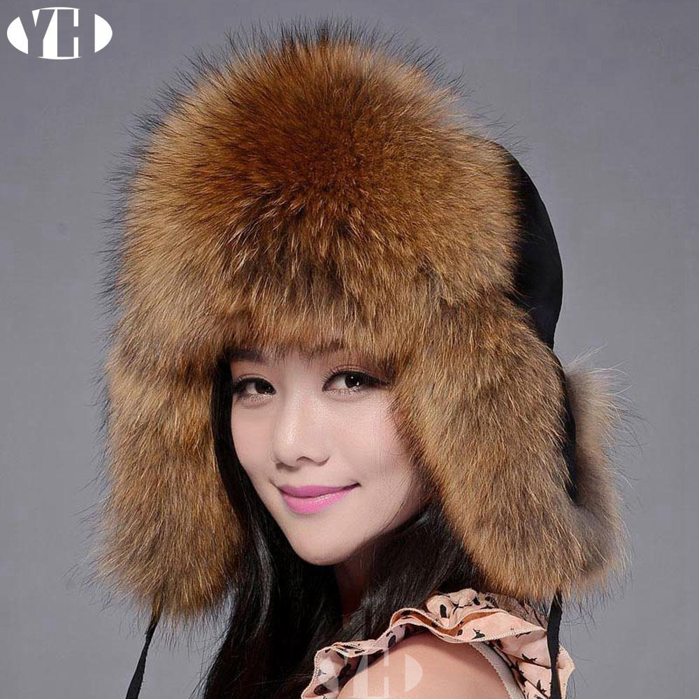 2019 Winter Women Real Fur Hats Natural Fox Fur Bomber Hats Lady Real Cap  Ear Hat Warm Heargear From Duodeis 54acf6108c3