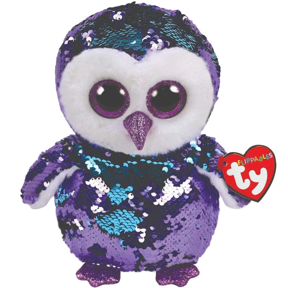 Ty Sequins Flippables 6 15cm Moonlight the Owl Plush Regular Stuffed ... 1954ae77c9e7