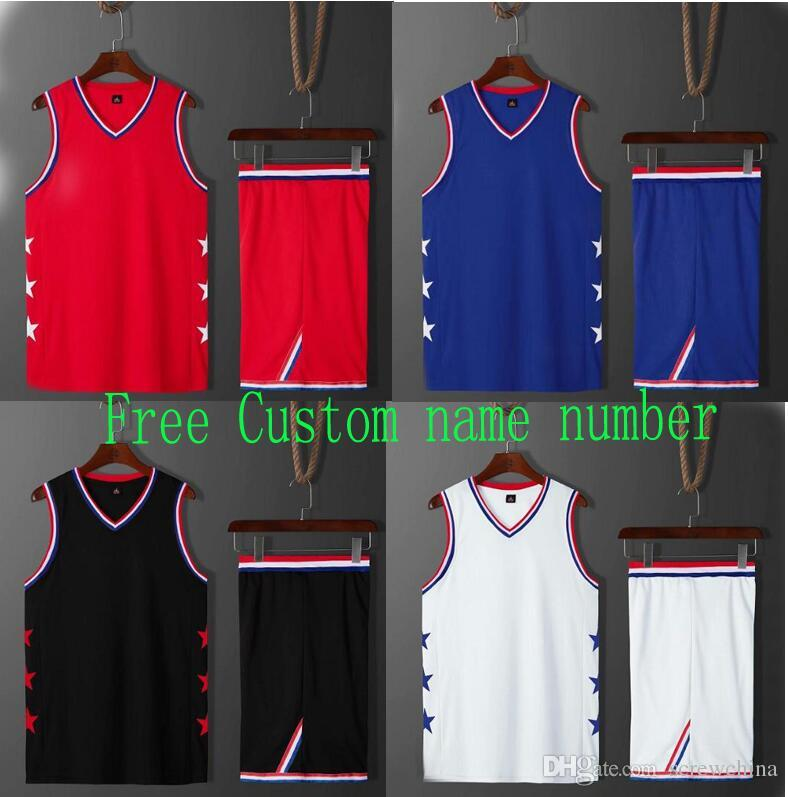 b72c226c4 2019 Free Custom Name Number!New 2019 Men/Women Basketball Jersey Sport Shorts  Set,Sleeveless Basketball Shirt Uniforme Train Clothe College Wear From ...