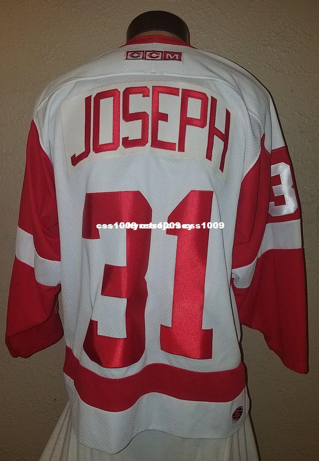 2019 Cheap Custom Detroit Red Wings  31 Curtis Joseph Hockey Jersey Mens  Personalized Stitching Jerseys From Hyretrojersey 69e80392345