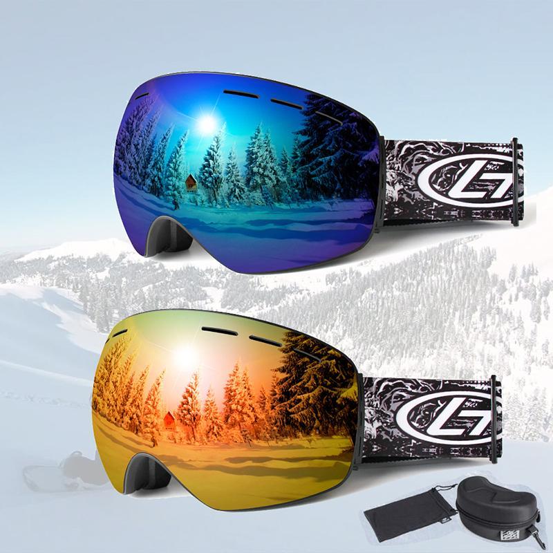 49283d0b027f 2019 OBAOLAY Brand Ski Goggles Anti Fog Big Spherical UV400 Winter Men And  Women Ski Glasses Sled Snowboard Snowmobile Goggles Boxed From Java2013
