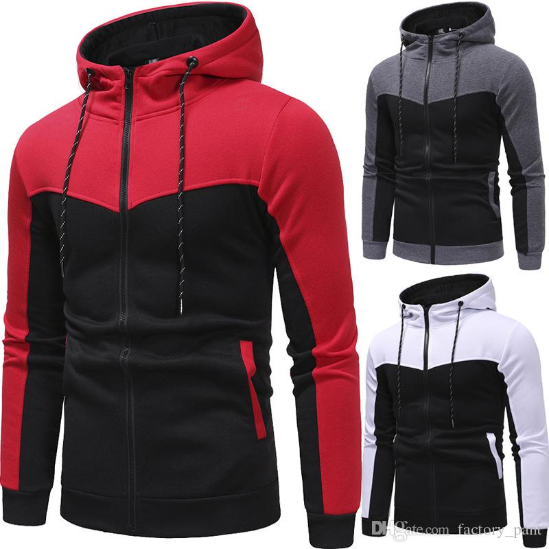High Quality Sweatshirt Mens Autumn Winter Casual Patchwork Hoodies Top and Pants Sets Men's Warm Outdoor sport Suit Tracksuit