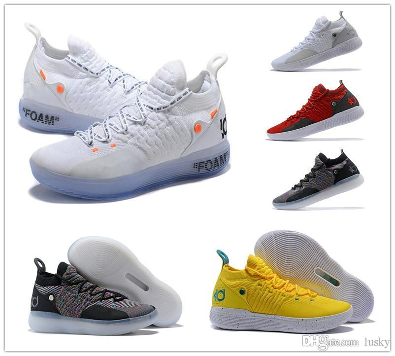 e58d36ac45c7 2019 New Designer KD 11 Basketball Shoes Kevin Durant 11s Zoom Mens Running  Athletic Off Shoes White Luxury KD EP Elite Low Sneakers From Lusky