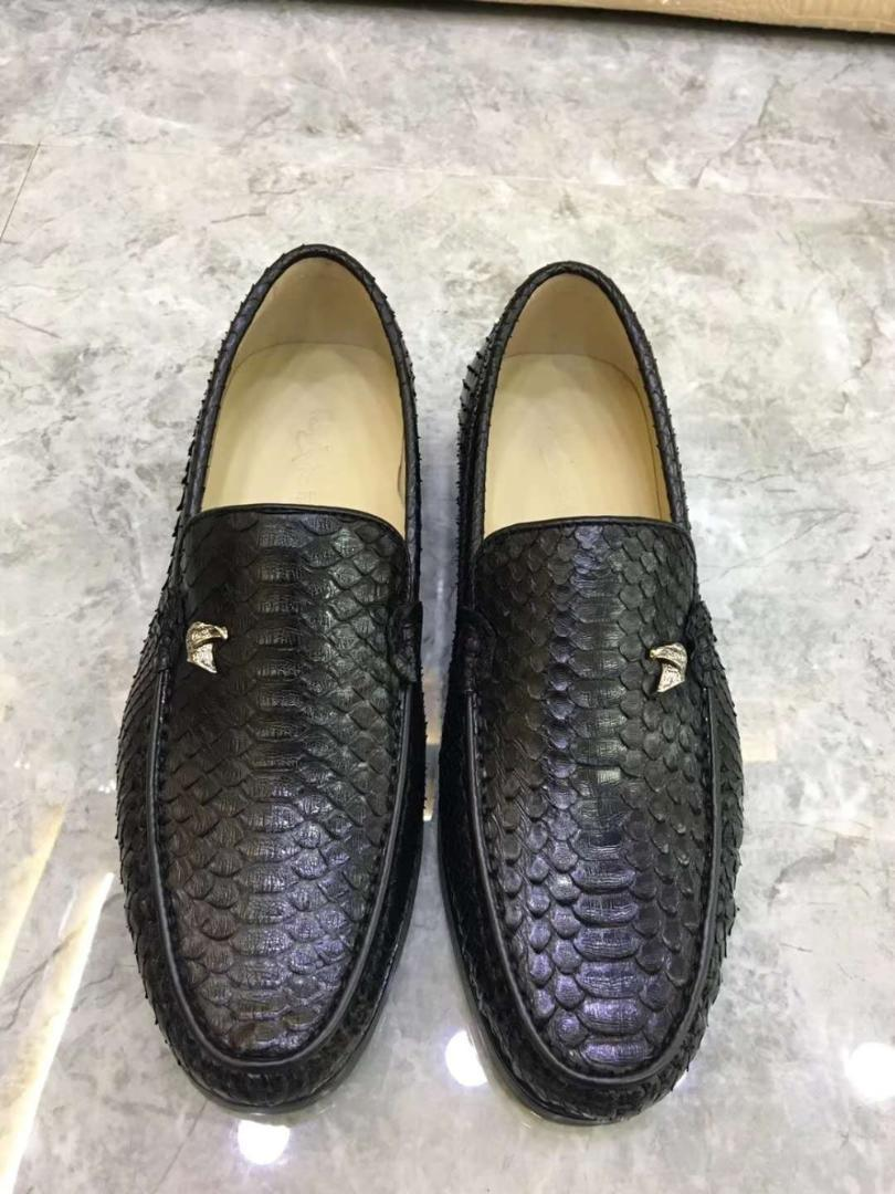 100% authentic c718e 9c059 100% Genuine Real Python Skin Men Fashion Dress Shoe High End Quality Snake  Skin Black Color Men Shoe Sneaker With Cow Lining Loafer Shoes Shoes Uk  From ...
