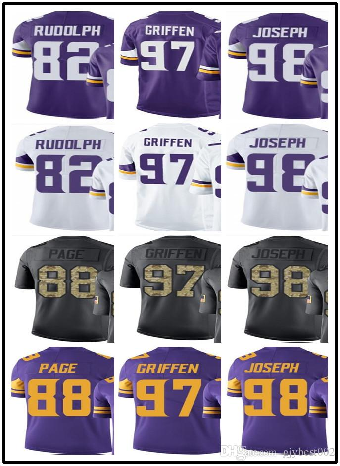 6bd835731 2019 Custom Minnesota Vikings Jerseys 82 Kyle Rudolph 97 Everson Griffen 98  Linval Joseph YOUTH Men S Limited Rugby Jerseys From Gjybest002