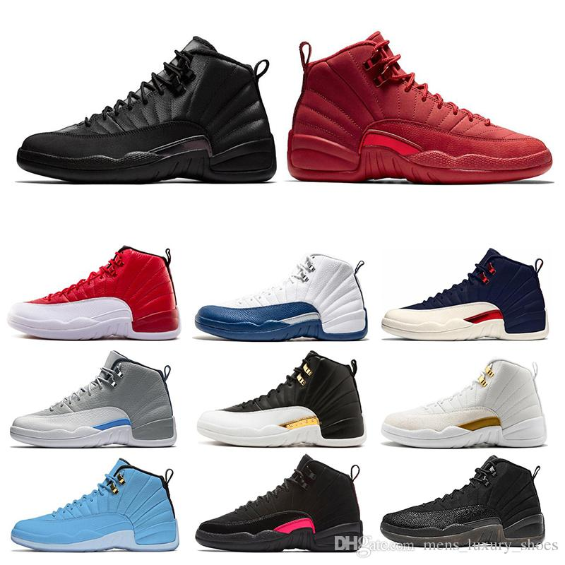 12 12s Mens Basketball Shoes Winterized Gym Red College Navy Wings Black CNY Bulls University Blue men Sport Sneakers Size 7-13