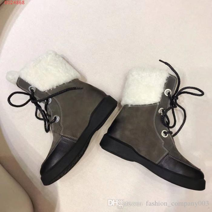 3794b6d5598d35 2018 High End Female Designer Oxfords Outdoor Snow Boots New Female  Designer Leather Ankle Boots Luxury Women S Shoes Sporto Boots Boys Boots  From Ado523