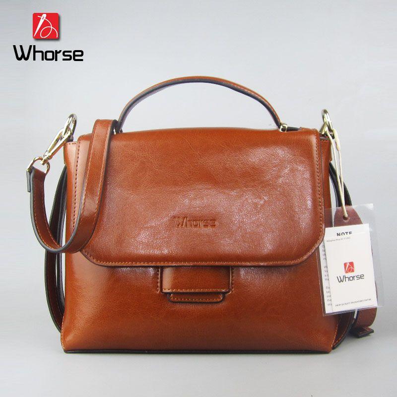 e25b11ebb Compre Famosa Marca De Luxo Flap Satchels Bag Couro Genuíno Bolsa Mulheres  Capa Dura Bolsas De Couro Do Ombro Messenger Bags W0865 De Whorse, ...