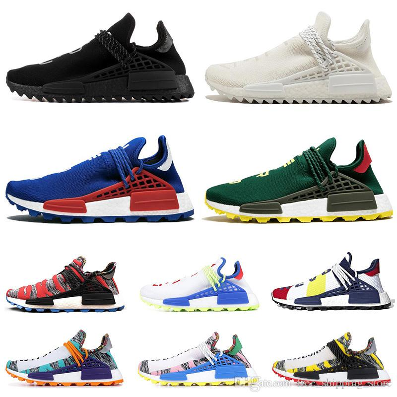 443c3274a 2019 Human Race Running Running Shoes For Men Women Pharrell Williams NERD BLACK  White Black Blue Green Cream Mens Trainer Sports Sneakers Running Shoes ...
