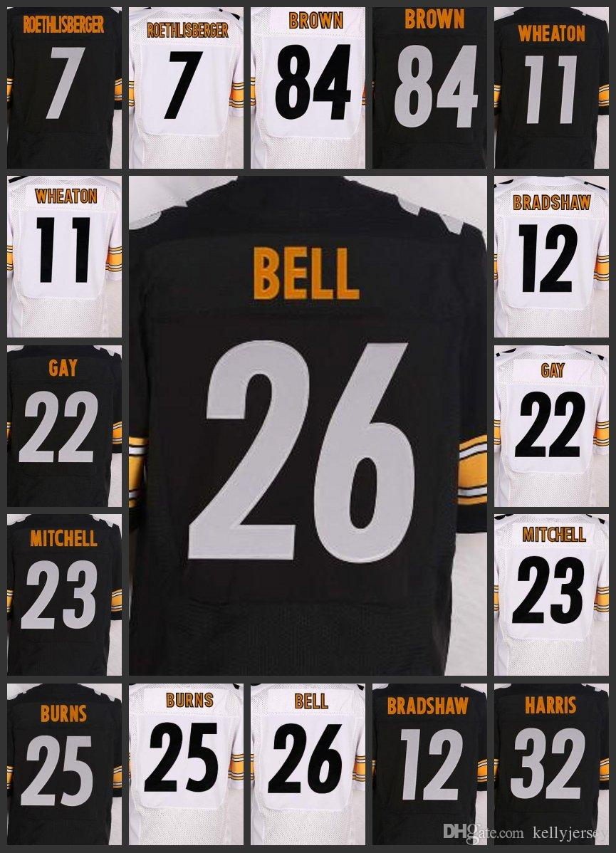reputable site 245e3 64982 Pittsburgh Men Steelers Women Youth Jerseys #84 Antonio Brown 7 Ben  Roethlisberger 26 Le'Veon Bell Embroidery Jersey