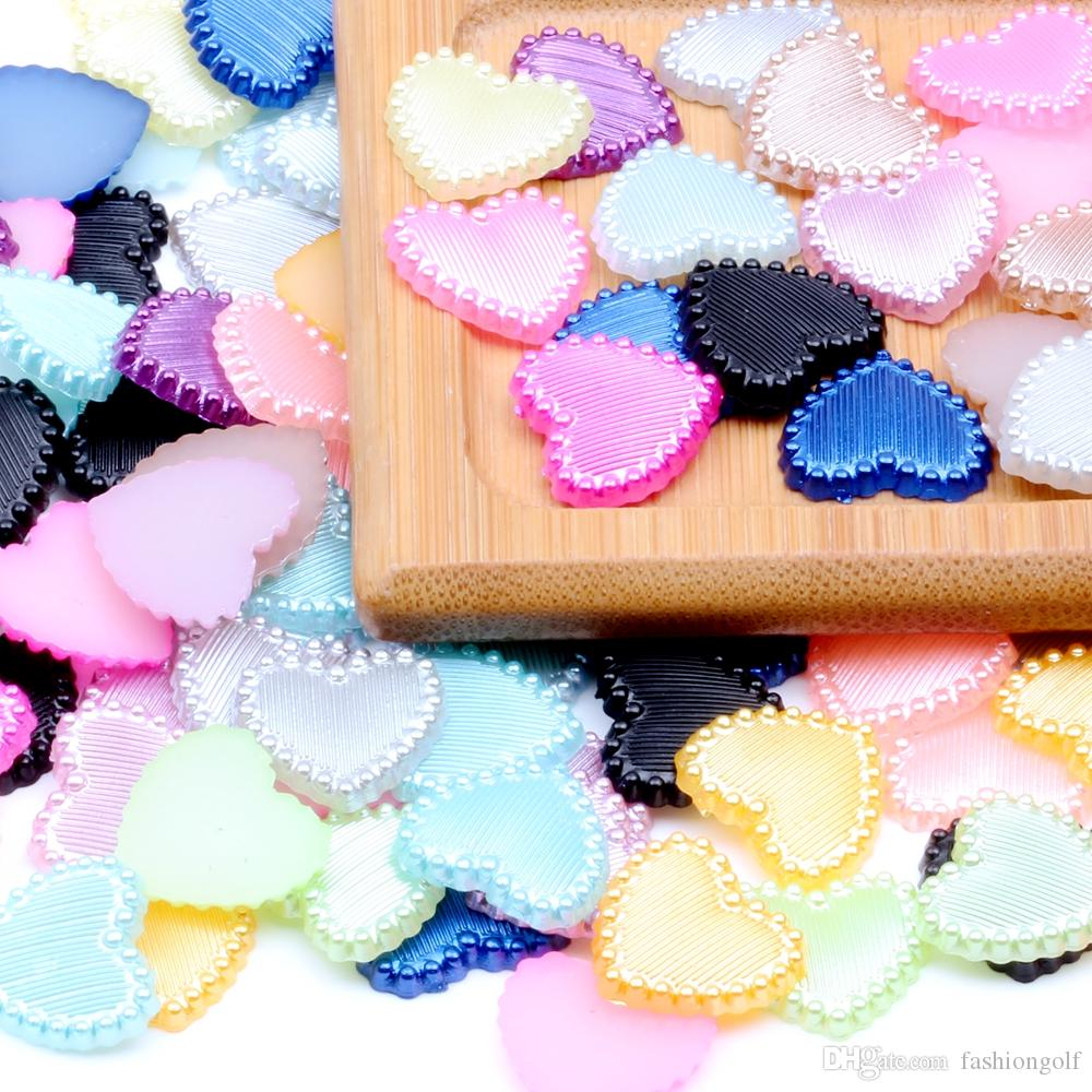 NEW DIY 40PCS AB Resin Heart flatback Scrapbooking for phone//wedding// PICK U