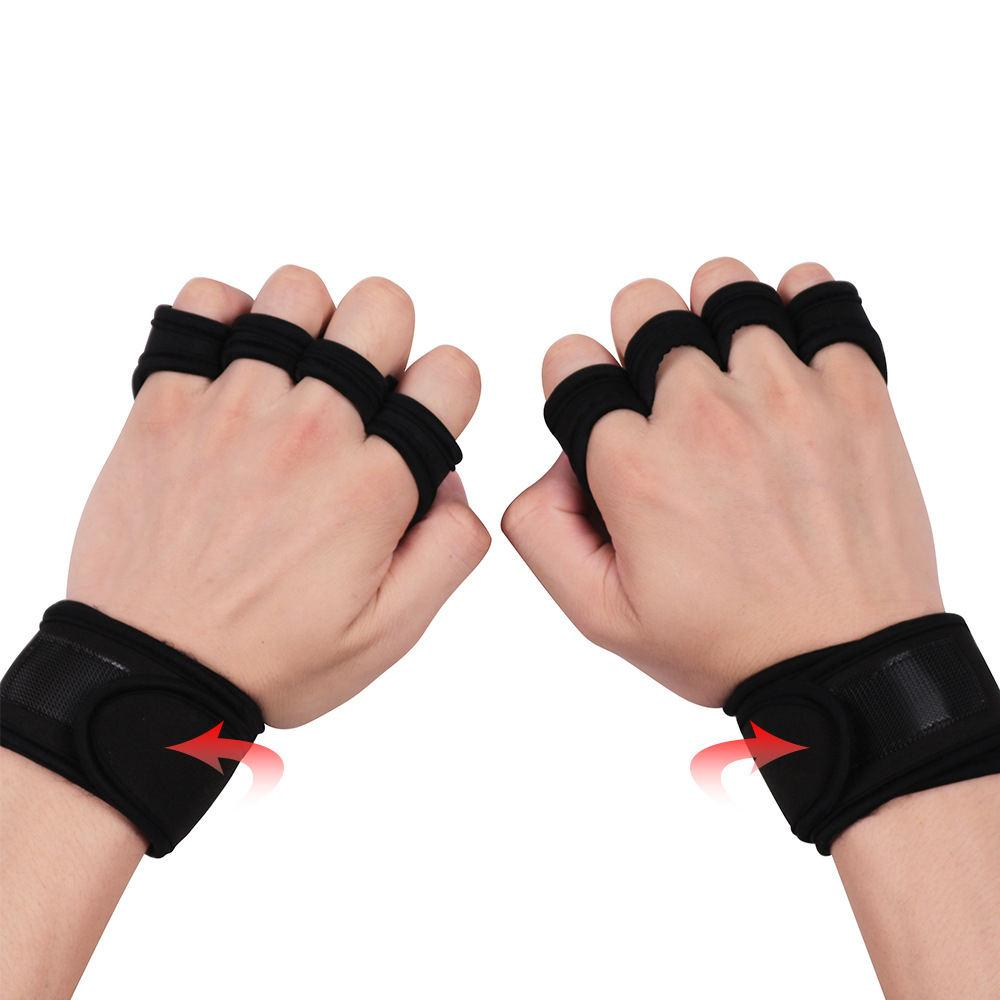 1d912001816e 2019 Weight Lifting Gloves Hand Grip Synthetic Fiber Crossfit Gymnastics  Guard Palm Protectors Glove Pull Up Bar S M L From Marigolder, $27.3 |  DHgate.Com