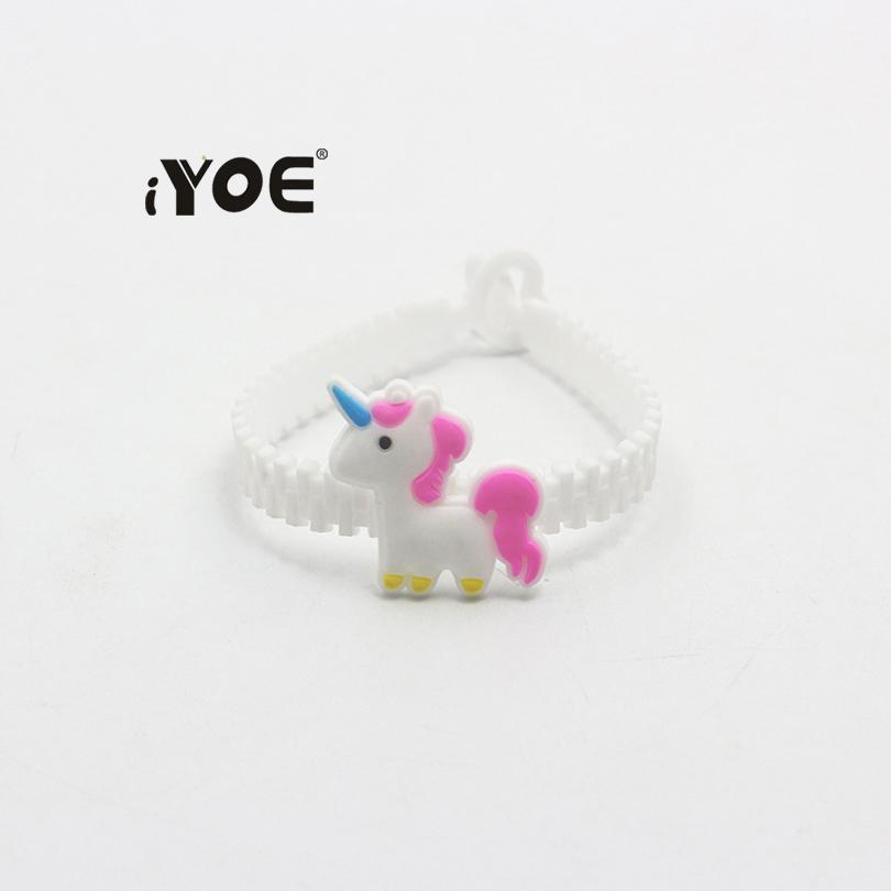 iYOE Flamingo Mermaid Unicorn Bracciale Braccialetti bambini Cartoon Lovely Animal Charm Bracciali Wrap PVC Bambini Regali di Natale