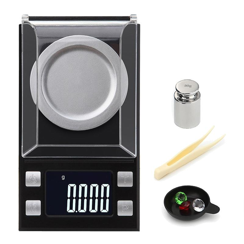 7dcc692c7a2f 100g/50g/20g 0.001g Digital precision scale for Jewelry gold Herb Lab  Weight Milligram Scale Electronic Balance accurate scale