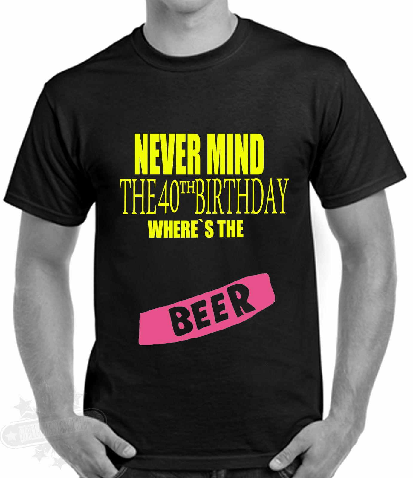 40th Birthday Celebration Humour T Shirt Old Punk Beer GIFT CELEBRATION Funny Unisex Casual Gift One Tee A Day Random Graphic Tees From Fashionistas