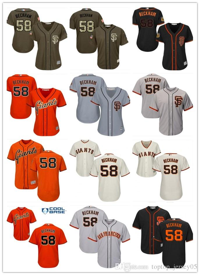 reputable site 9ef89 e9520 2018 top San Francisco Giants Jerseys #58 Beckham Jerseys  men#WOMEN#YOUTH#Men's Baseball Jersey Majestic Stitched Professional  sportswear