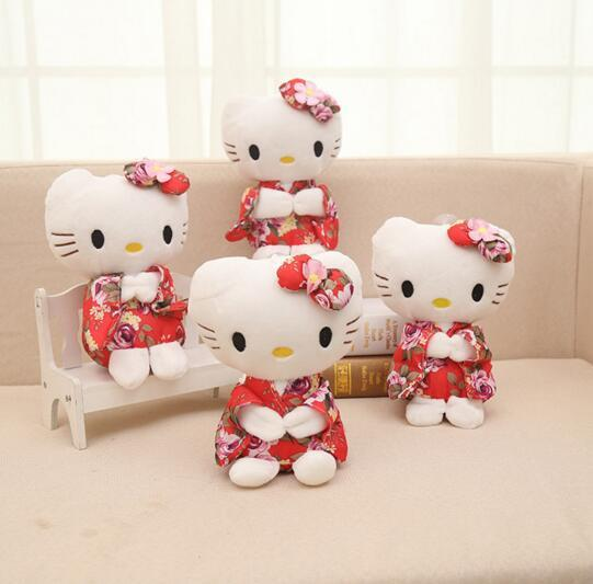 Cartoon Kawaii Stuffed Animals Anime Cute Hello Kitty Plush Toy Kids Students Toys Soft Decorative Teddy Bears Plush Toy Gifts