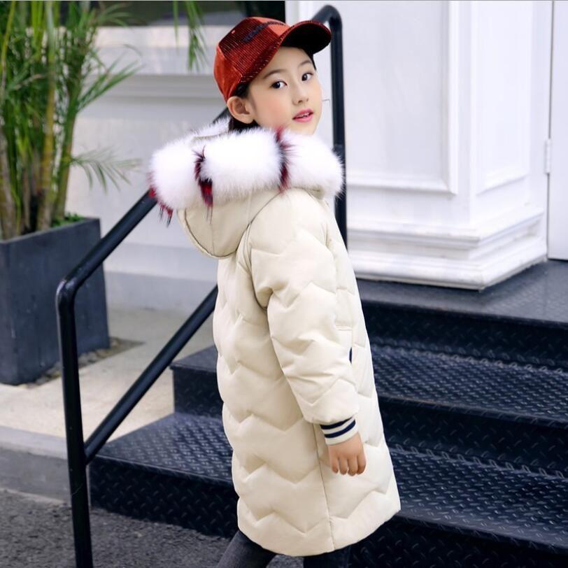 f063e9b5d Girls Down Coat 2018 Fashion Children Winter Jacket Girl Winter Coat ...