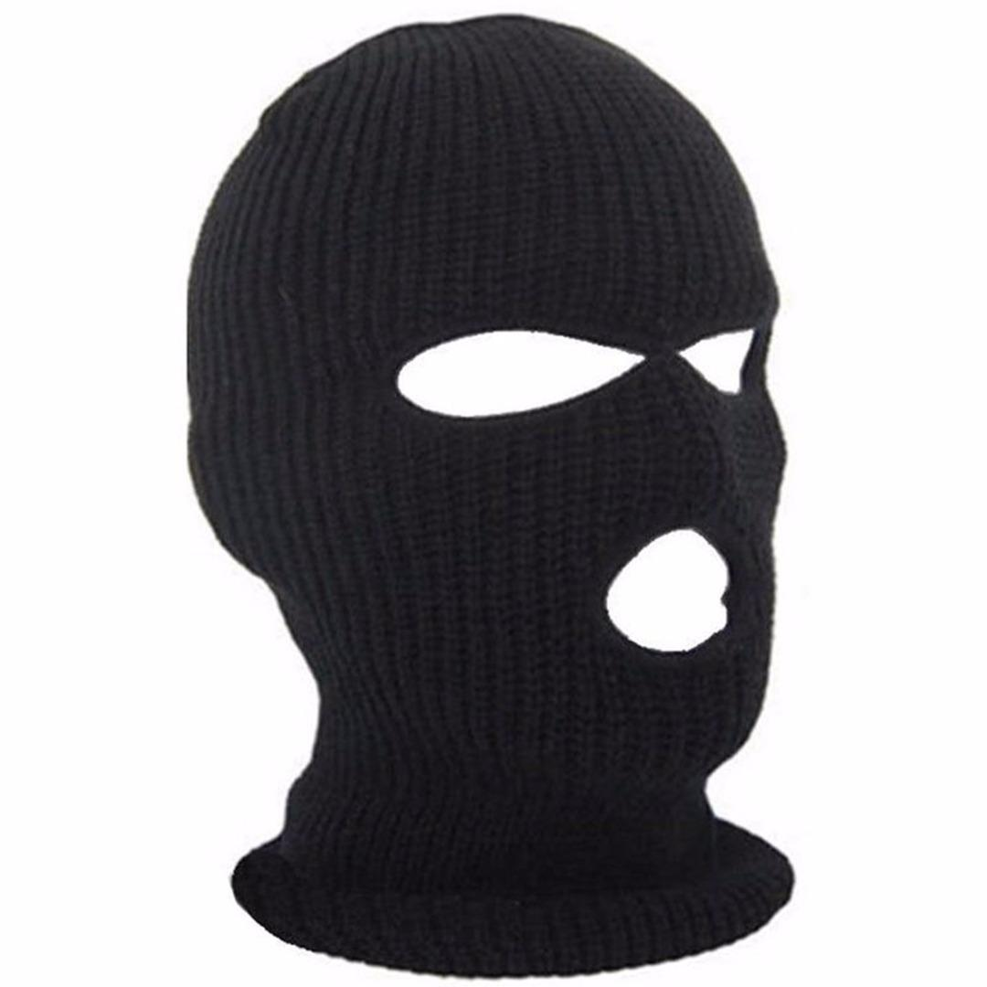 df94d5738c2 2019 Bicyle Cycling Face Cover Ski Mask 3 Hole Winter Warm Face Knit Hat  Snowboard Ski Mask Black Bike Hat Cap New From Gqinglang