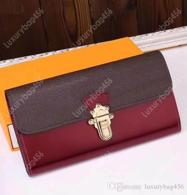 M61915 New designer embossed ladies long wallet card package High quality beautiful ladies canvas coin purse Small and powerful