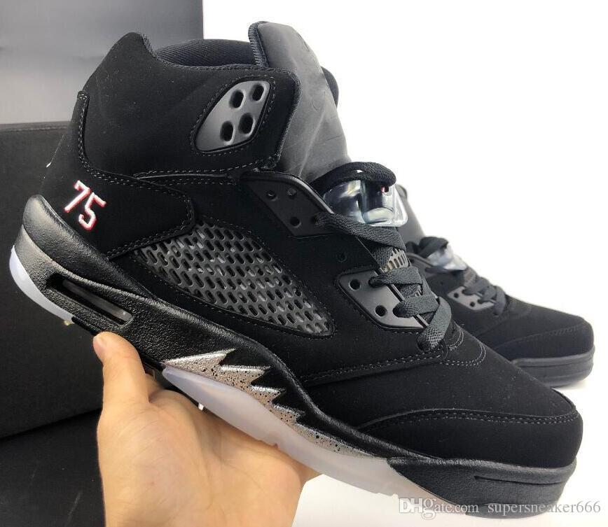 Mens AJ5 basketball shoes retro jumpman J5 air Flight Premium Heiress  Metallic Field 1s AJ 5 kids sneakers boots size 7-13