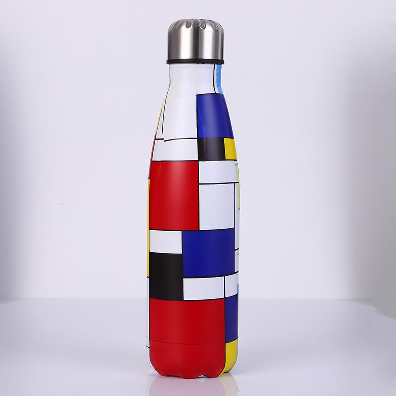500ml Cola Bottle Army Emotion Cute Vacuum Stainless Steel Water Bottle, Water Bottle,hot Water Bottles,