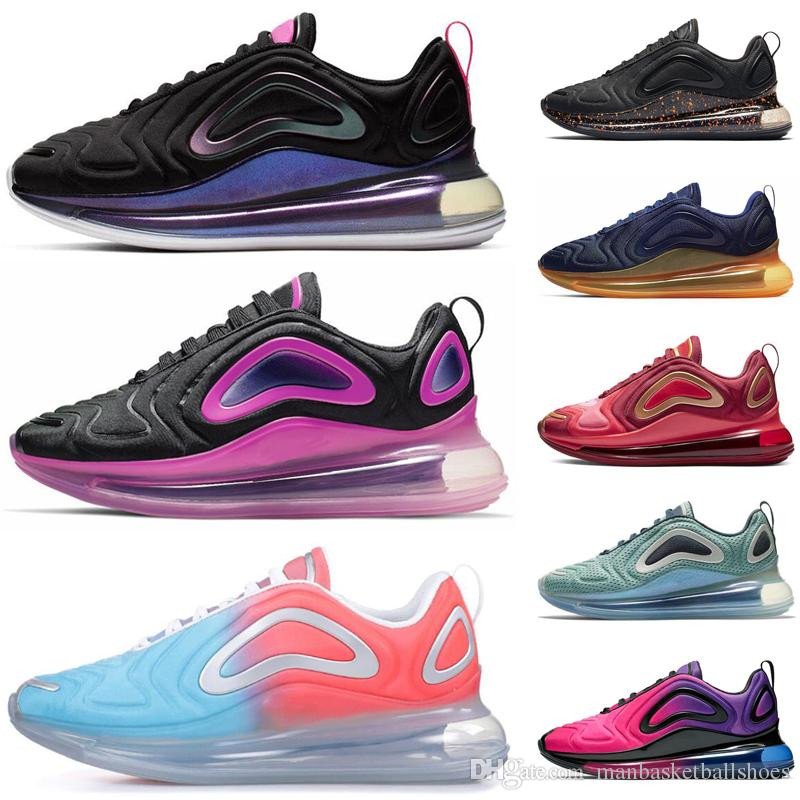 Nike air max 720 hombre mujer Sunrise Volt Obsidian Easter Pack Sunset Zapatillas de deporte para hombre mujer TPU New Sports sneakers runner