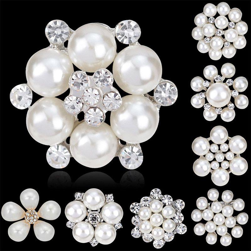 3b1e634f5aa 2019 Fashion Women Large Brooches Lady Snowflake Imitation Pearls  Rhinestones Crystal Wedding Brooch Pin DIY Jewelry Accessorise From  Gsl_space, ...