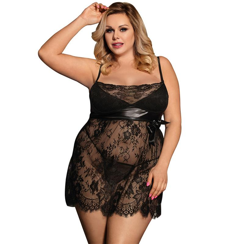 ae5712a2cea 2019 Transparent Sexy Lingerie Hot Erotic Underwear Low Cut Babydoll Dress  Lingerie Bow Solid Erotic Lingerie Plus Size Sex Clothes From  Zhanhuaclothes