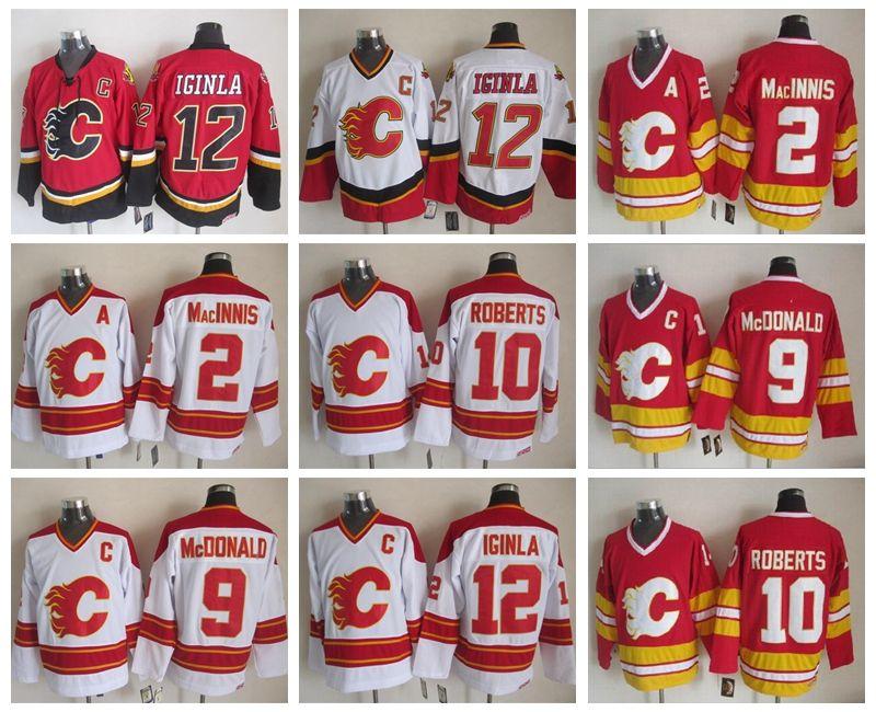 cf0a02810eb CCM Stitched Hockey Jerseys 12 Jarome Iginla Jersey Calgary Flames 2 ...