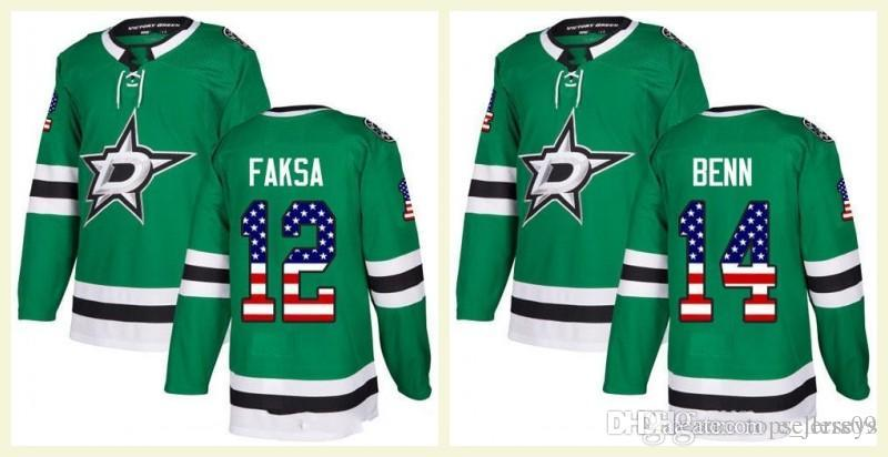 2019 Dallas Stars Mens 14 Jamie Benn 47 Alexander Radulov 91 Seguin 100th  1917 2017 A C Patch Custom Hockey Jerseys Home Green Away White From  E jerseys 5372afd32