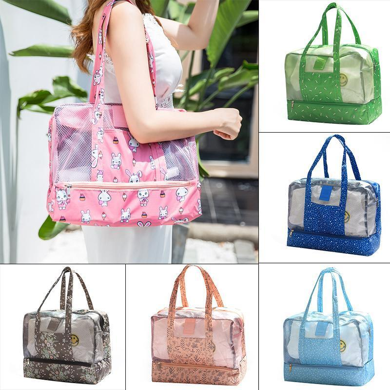 Fashion Portable Swimming Beach Floral Waterproof Large Capacity Travel Bag
