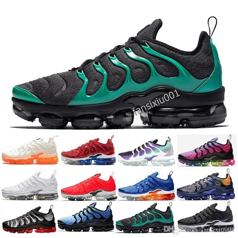 huge discount eab09 824f6 Compre 2019 Más Nuevos Zapatos Para Hombre TN Triple Negro Oliva Metálico  BETRUE Blanco Plata Plus Sport Athletic Sneakers Zapatillas US7 11 A  69.09  Del ...