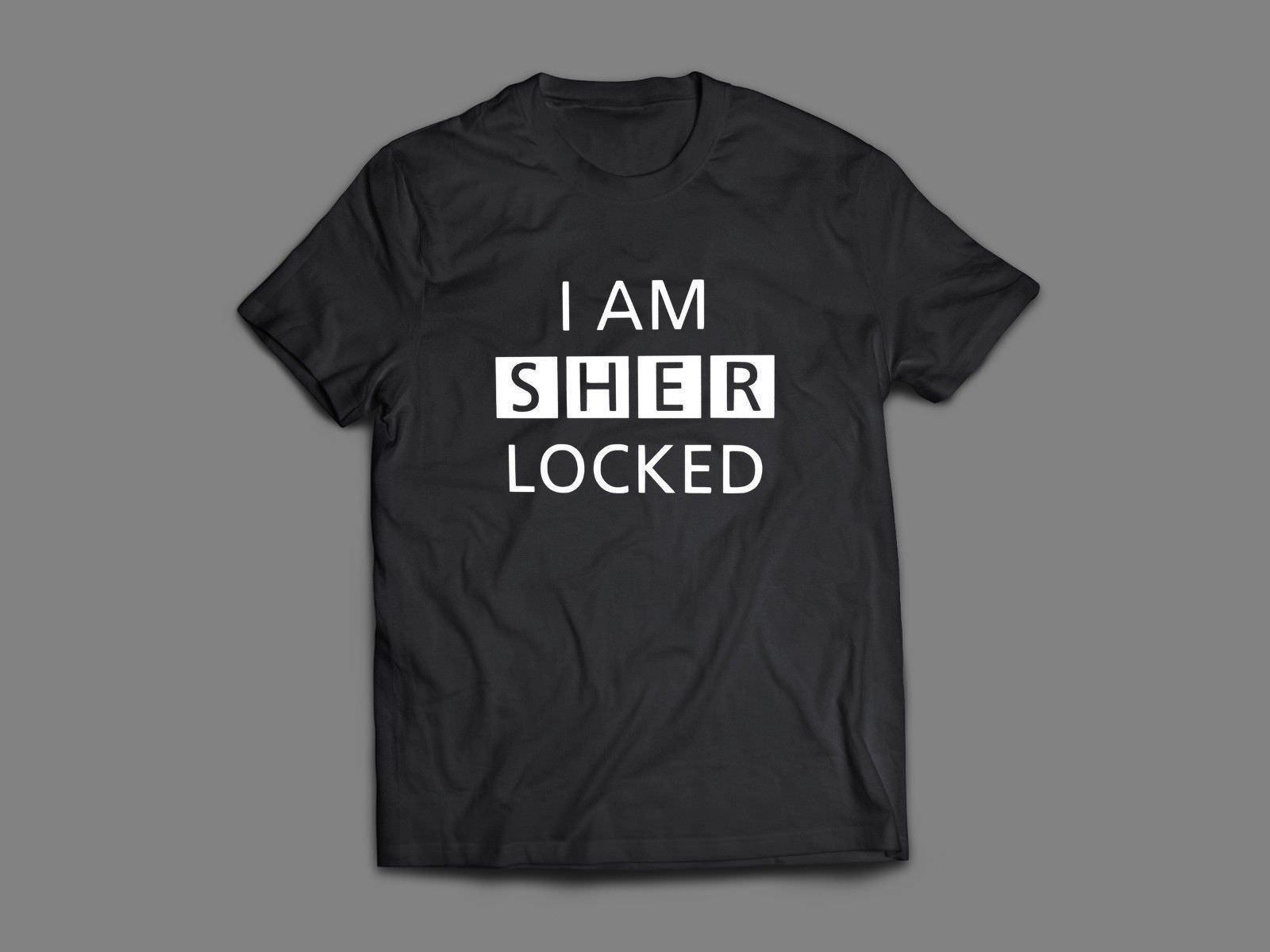 Sherlock Holmes I Am Sherlocked Sherlock Tv Series T Shirtfunny Free Shipping Unisex Casual Top