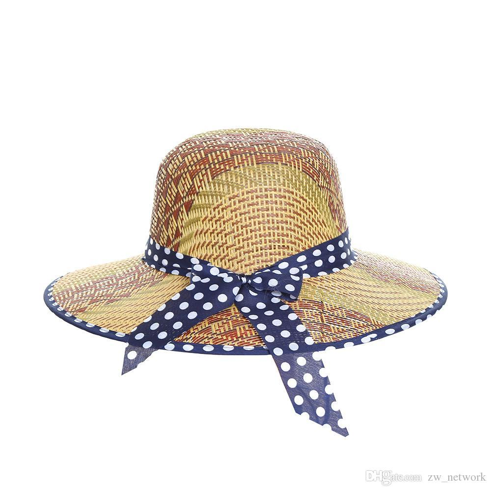 7ab51d631151f1 Western Style Cowboy Straw Hat For Men Women Summer Sun Hat Woven ...