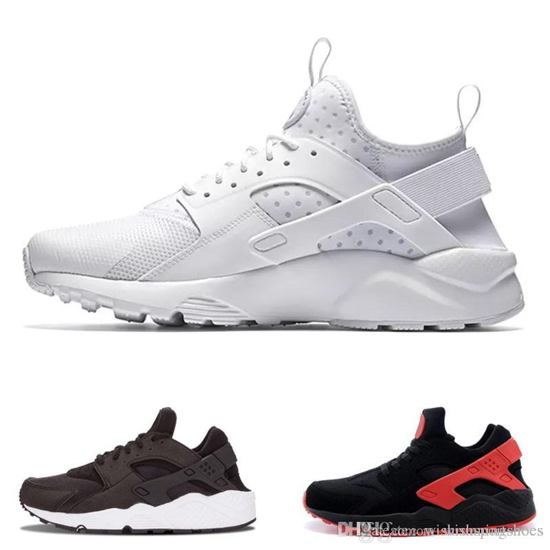 96ace0809aed New Huarache 4 IV Classical Triple White Black Ultra Huarache Shoes Men Womens  Huaraches 4 Sports Sneakers Running Shoes Size 5.5 11 Mens Sale Cheap  Running ...