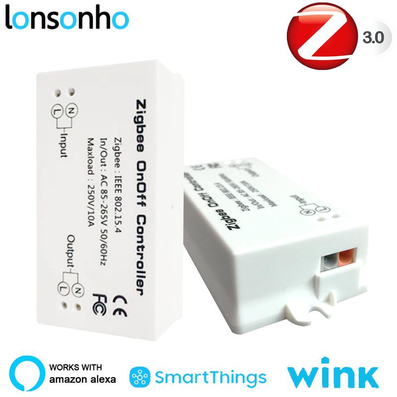 Lonsonho Zigbee 3 0 HA Wireless Smart Switch Relay Works with Echo Alexa  SmartThings Smart Home Automation Remote Control