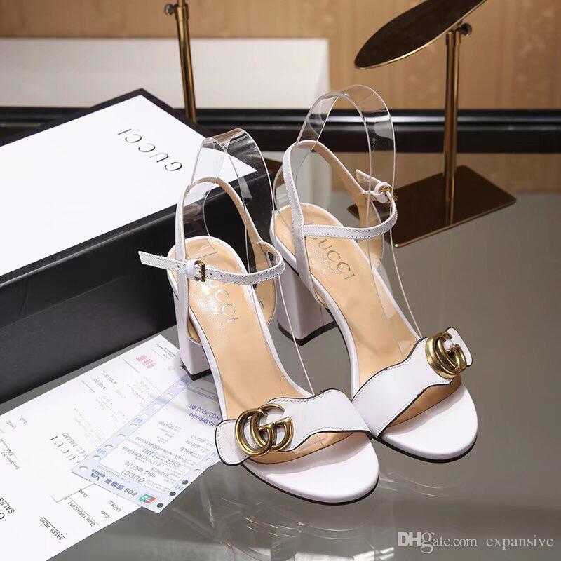5228a1aab3ad New Summer Word Sandals Bronze Buckle Buckle Ladies Casual Shoes Women S  Wild Luxury Shoes Fashion Tide Gladiator Sandals Wedding Shoes From  Expansive