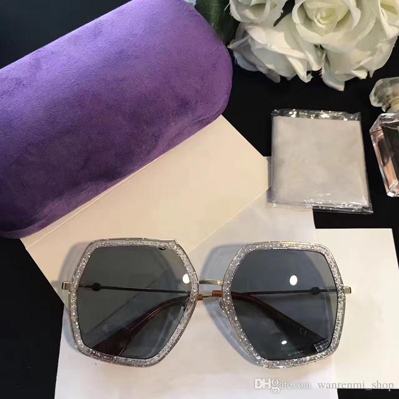0106S Luxury Eyewear Sunglasses Large Frame Elegant Special Designer Oval Frame Built-In Circular Lens Top Quality Come With Case
