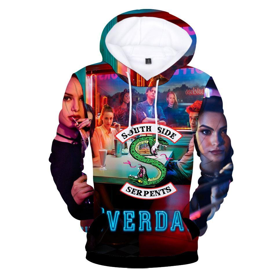 Compre Riverdale 3D Sudaderas Con Capucha Calientes Hombres   Mujeres  Harajuku Moda Hip Hop Impresión En 3D Sudaderas Con Capucha Y Sudadera Para  Hombres ... 9614101f86b